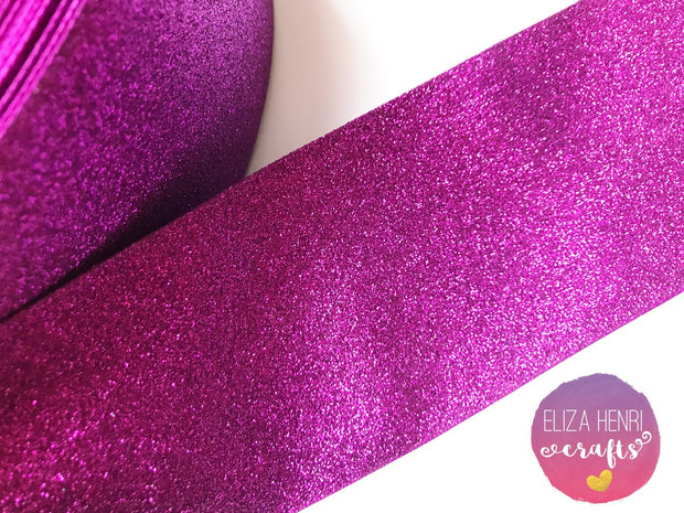 Purple Glitter Grosgrain Ribbon 3''