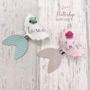 Mila & Lila the Mermaid -Official Bow Die cutter- 2 Styles on 1- NEW SIZE 2.5''