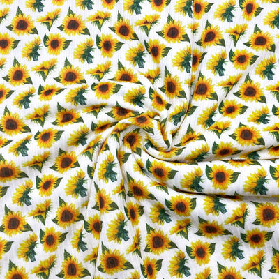 Sunflower Premium Stretch Ribbed Knit Fabric