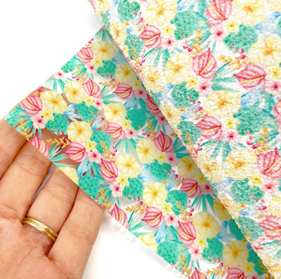 Tropical Floral Transparent TPU Fabric Sheets
