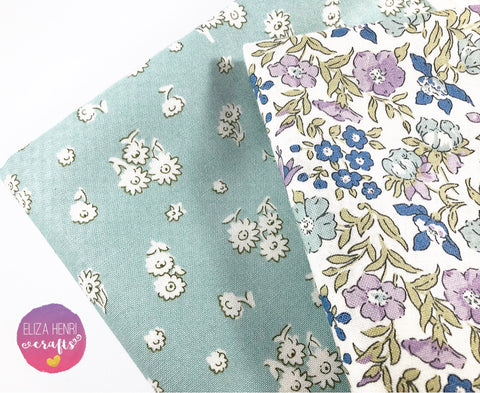 NEW Liberty English Garden Collection Mint & Lilac- Luxury Liberty of London Fabric Felts