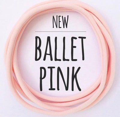 Skinny Nylon Headbands- Dainties- Ballet Pink