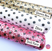 NEW Polka Dot Chunky Glitter Fabric Collection