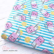 Kawaii Lemonade Stripe Artisan Fabric Felt