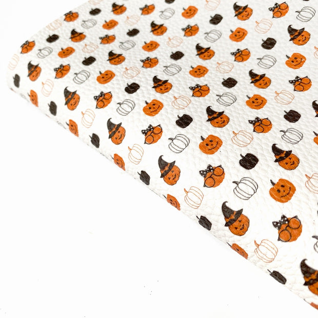 Cute as a Pumpkin Textured Faux Leather Fabric Sheets