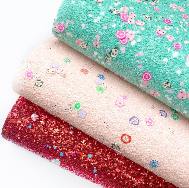 Kawaii Glitter Surprise Chunky Glitter Fabric Sheets