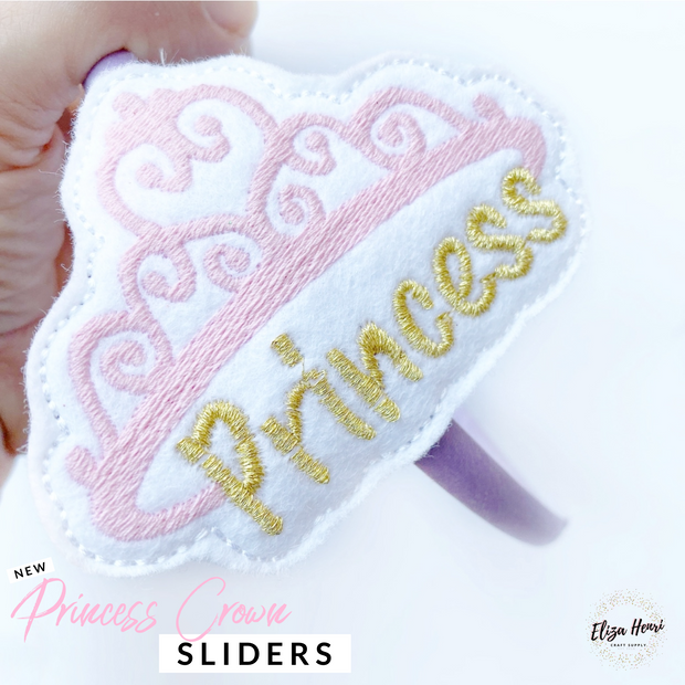 Princess Crown Headband Slider Felties