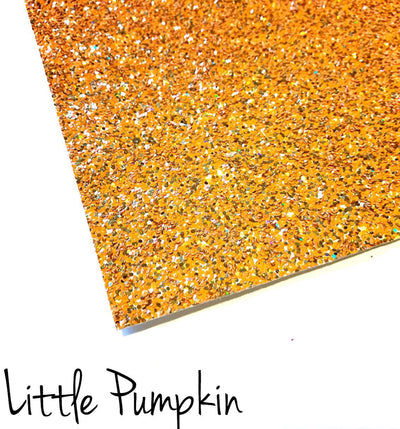 Exclusive Little Pumpkin Chunky Glitter Fabric
