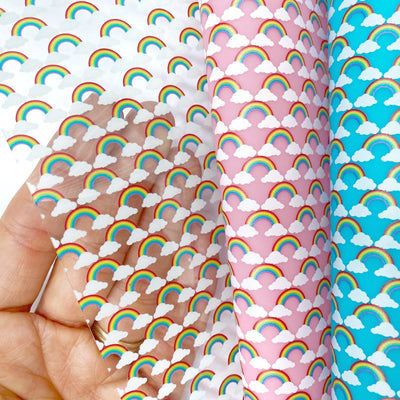 Rainbow Transparent Fabric Sheets