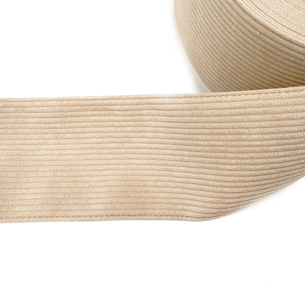 Cream Corduroy Ribbon 3''
