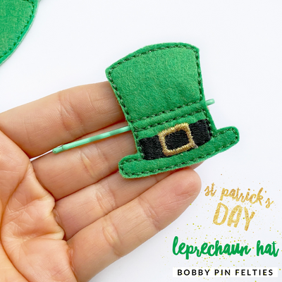 Leprechaun St Patrick's day Hat Bobby Pin Felties