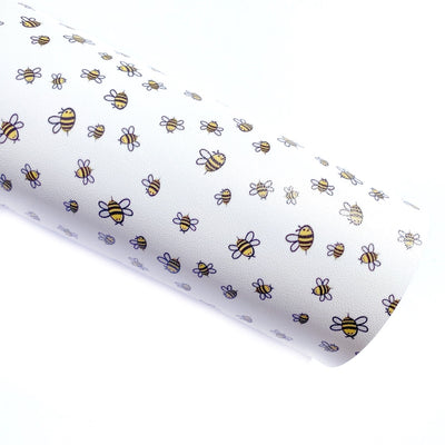 Bee Kind Faux Leather Fabric Sheets