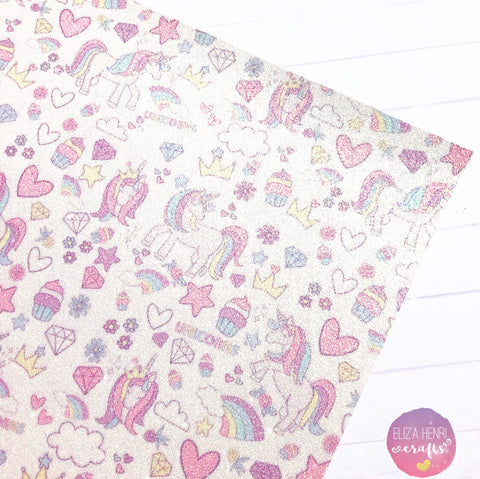 Unicorn Craze Fine Glitter Fabric