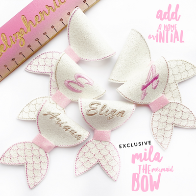 Exclusive Fold it Feltie Bows- DIY 3'' Mila the Mermaid Feltie Bow