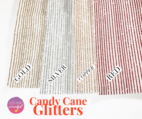 Candy Cane Thin Stripe Glitters