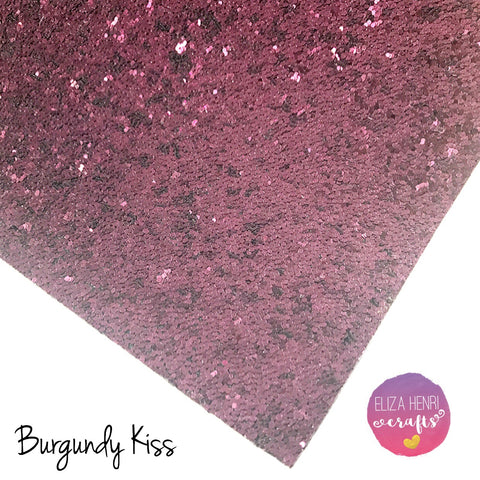 Burgundy Kiss Chunky Glitter Fabric