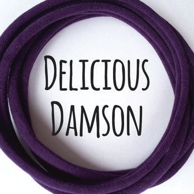Skinny Nylon Headbands- Dainties- Delicious Damson
