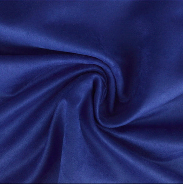Royal Blue Luxury Suede Kisses Fabric