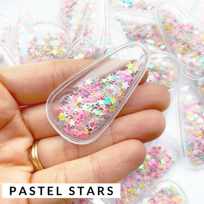 Confetti Filled Shaker Snap Clips
