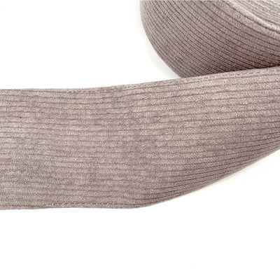Grey Corduroy Ribbon 3''