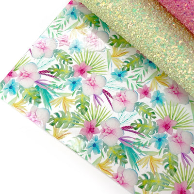 Paradise Island Floral Transparent TPU Fabric Sheets
