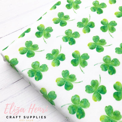 "3/4"" Four Leaf Clover Artisan Fabric Felt"