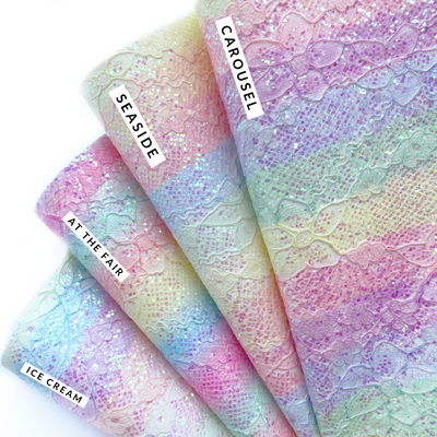 EHC Exclusive Summer Rainbow Lace Chunky Glitter Fabrics