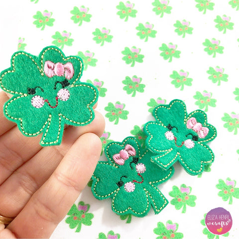 Exclusive EHC Four Leaf Clover Lucky Charms Matching Felties Fabric Felt