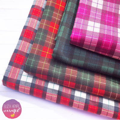 Traditional Tartan Fabric Felts