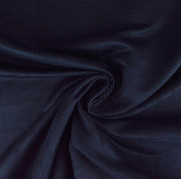 Navy Luxury Suede Kisses Fabric