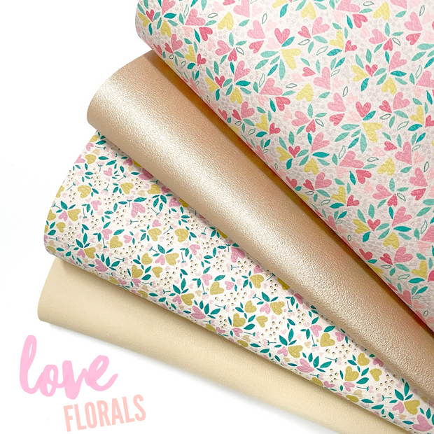 Love Florals Leather Fabric Sheets Collection