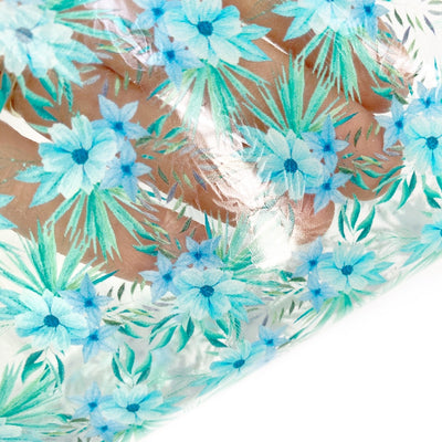Hawaii Flower Girl Transparent TPU Fabric Sheets