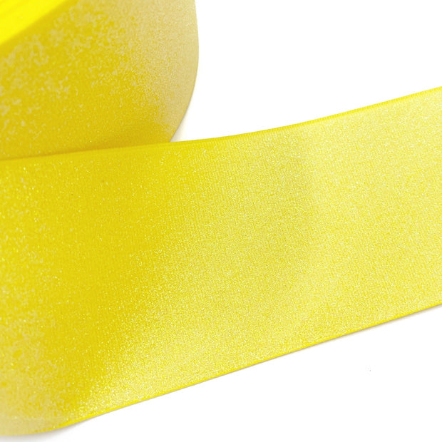 Bright Yellow Glitter Grosgrain Ribbon 3''
