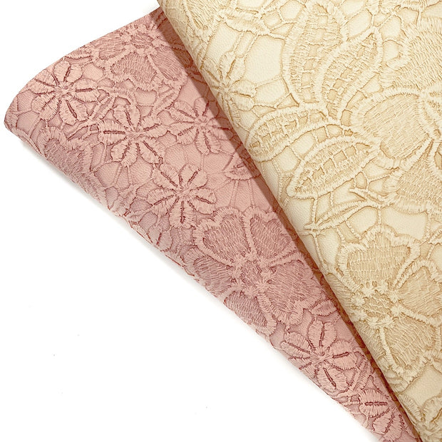 Elegant Embossed Faux Leather Fabric Sheets