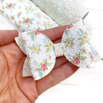 Summer Floral Chunky Glitter Fabric