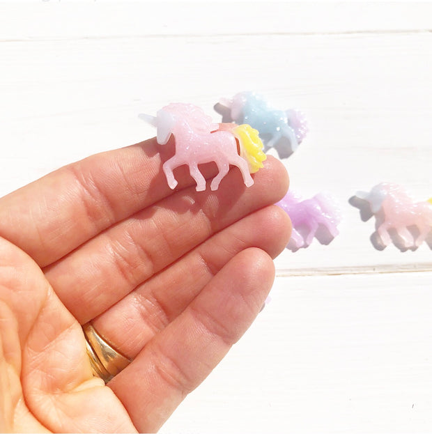 Mixed Colour Unicorn Resin Charms