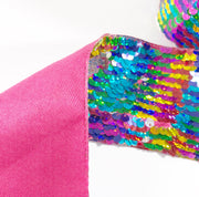 Sparkle Rainbow Sequin Reversible Ribbon 3''