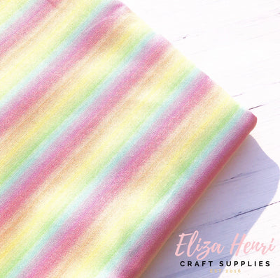 Pastel Rainbow Cotton Fabric