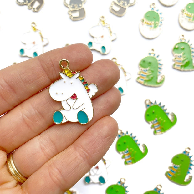 Cute Chubby Unicorn Charms