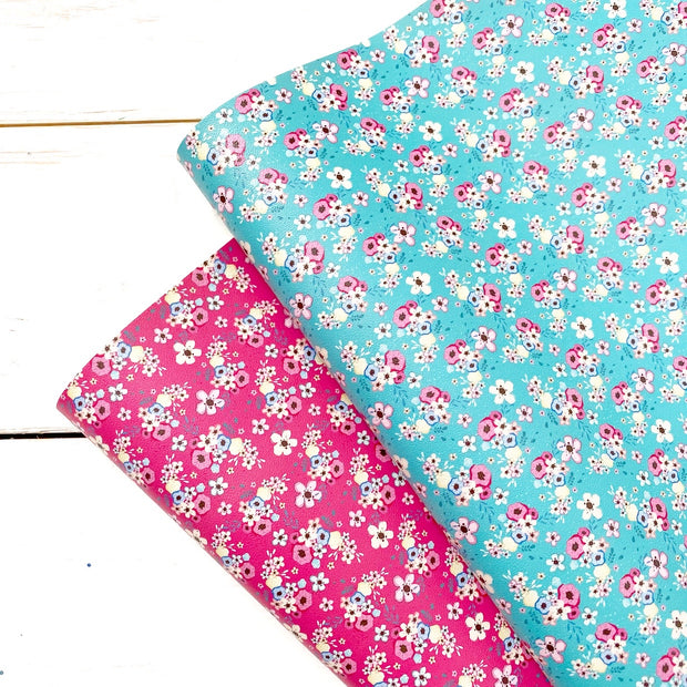 May Flowers Faux Leather Fabric Sheets