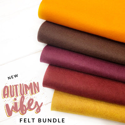 Autumn Vibes Merino Wool Blend Felt Bundle