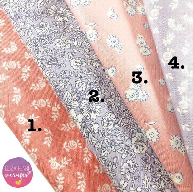 NEW Liberty English Garden Collection Coral & Lilac- Luxury Liberty of London Fabric Felts