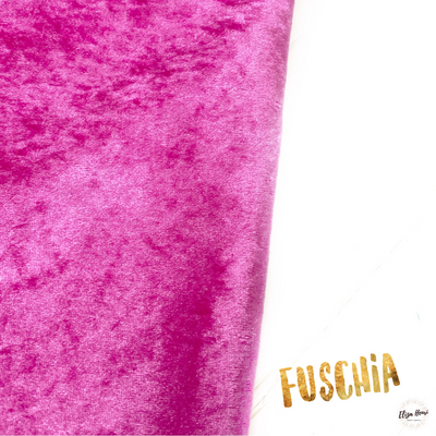 Fuschia Blossom Crushed Velvet Fabric Felt Sheets