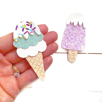EHC Exclusive Ice Cream and Lolly Hair Bow Template