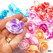 Marble Foam Roses- Pack of 10