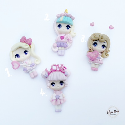 EXCLUSIVE Loved Up Pastel Clay Girl Charms