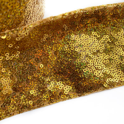 Gold Sequin Ribbon 3''