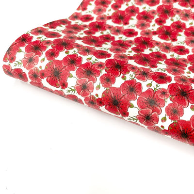 Poppy Fields Faux Suede Glitter Fabric Sheets