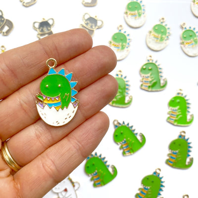 Hatching Baby Dinosaur Charms