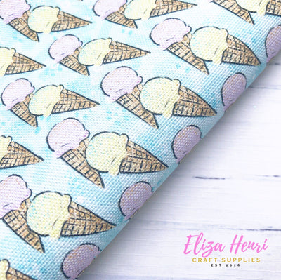 New Ice Cream Blue Standard Fabric Felt